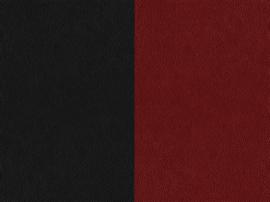 Two-tone nappa leather red / black-897